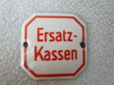 Ersatz-Kassen altes Schild 4x4cm Emailschild Email Schubladenschild Apotheke 7