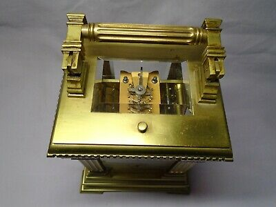 Very Large French Repeater / Alarm Carriage Clock In Excellent Condition + Key 4
