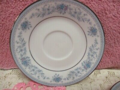 Noritake Blue Hill Cup and Saucer Sets Floral Platinum Unused 2 Sets 7