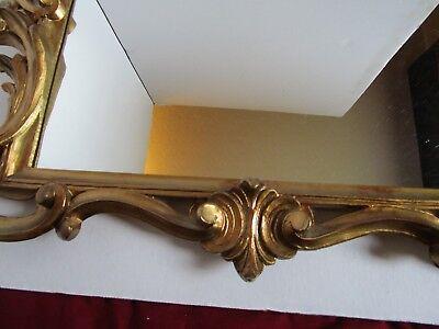 "Florentine Hollywood Regency Shell Gold tone Wall Mirror Ornate Italy 23¼"" W 5"