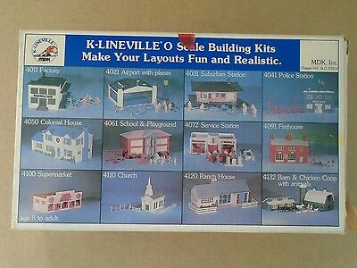 K-LINEVILLE FULL O SCALE BUILDING KIT DINER w/FIGURES K-4081