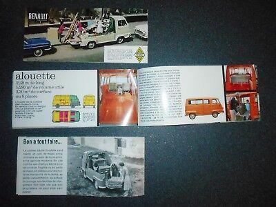 3 catalogues   ESTAFETTE RENAULT originaux pas copie bon état 10