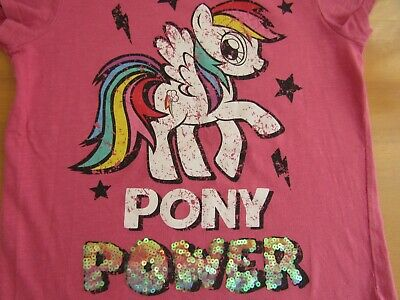 Next Older Girls Pink Floral Print Joggers & My Little Pony Top Outfit - Age 11 5