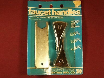 Vintage Set Chrome Hot & Cold Faucet Handles 1950s 1960s Chrome Retro Universal 2