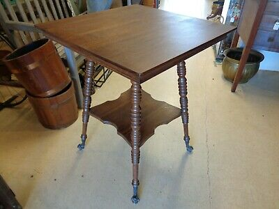 Antique Oak Table - Turned Legs - Claw & Glass Ball Feet 9