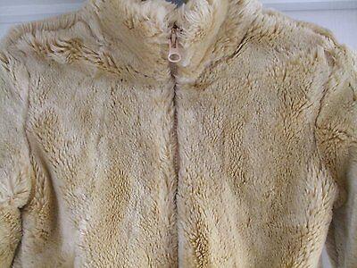 Z. Kids age 4 girls faux fur beige light brown jacket GAP size xs Smart CASUAL 7