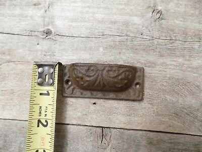 "5 Cast Iron Brown 3"" Ornate Pulls Drawer Cabinet Bin Handles Rustic Vintage 3"