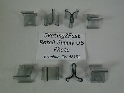 Hinged Ceiling Grid Clip Clear Track Plastic Snap Hook Clip Retail Store Supply 3