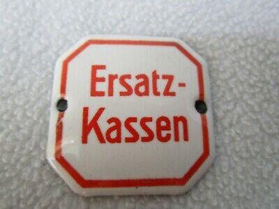 Ersatz-Kassen altes Schild 4x4cm Emailschild Email Schubladenschild Apotheke 6