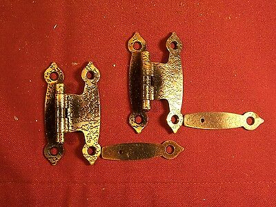Lot of 22 Vintage Strap Iron Butterfly Cabinet Hinges Primitive Hardware Rustic