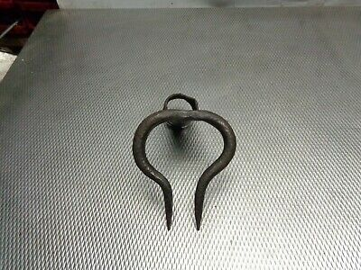 alte geschmiedete Rübengabel Feldhacke Gartenhacke  bäuerliches Werkzeug 6