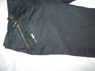 Calvin Klein Black Jeans Trousers Unusual Front Fastening Size 26 W28 L27 9