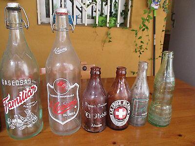 Sammeln von Glasflaschen Alt / Collection Of Antique Glass Bottles 2