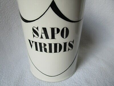 altes Apotheker Porzellangefäss Labor-Porzellan Kruke Standgefäss Sapo Viridis 2