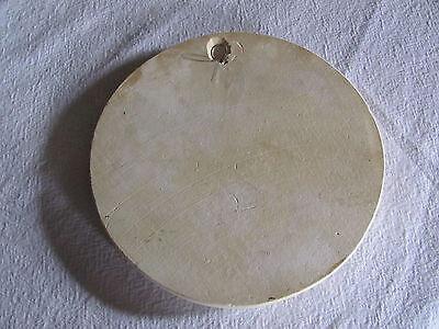 Antique Vintage Round Chalkware Plaster Wall Hanging, TASHA TUDOR? Young Woman 5