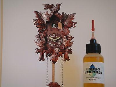 Liquid Bearings, BEST 100%-synthetic oil for vintage cuckoo clocks, PLEASE READ!