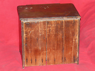 ANTIQUE 19th C. CHILD's TOY DOLL SIZED PINE WOOD WASH STAND COMMODE CABINET 7