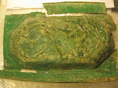 Phoenician (?) bronze plate with images of people, animals and inscriptions 12