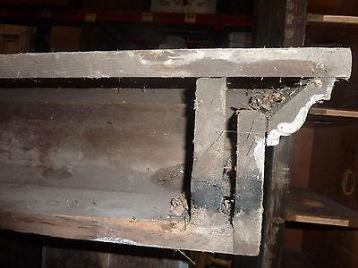 "c1860 square box style WINDOW pediment VICTORIAN lintel ~ header 53 x 6 x 6.5"""