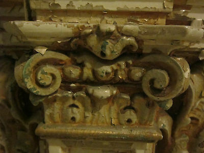 19th c Ornate Plaster Architectural Element from Philadelphia gold micromosaic