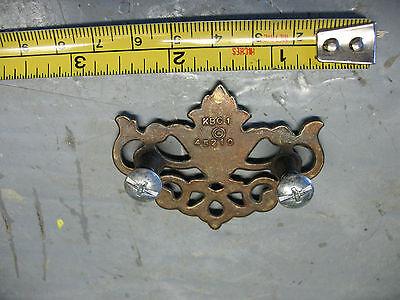 Vintage   Brass Arabesqe Escutcheon Plate   2 &1/2 '' Wide  Original  Nice 2