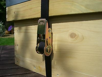 6 x Beekeepers very strong RATCHET HIVE STRAPS 7
