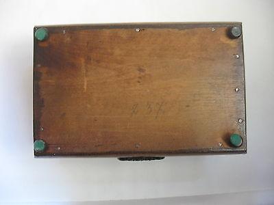 Rare Antique Civil War / Empire Period Jewelry Document Box-Gutta Percha-Burl 12 • £764.15