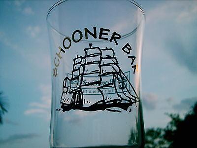 "SCHOONER BAR ROYAL CARIBBEAN INTERNATIONAL LOGO DRINKING GLASS 8.25"""