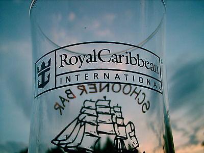 "Schooner Bar Royal Caribbean International Logo Drinking Glass 8.25"" 4"