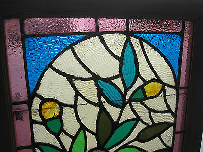 ~ Gorgeous Antique American Stained Glass Windows Floral ~ Architectural Salvage 2