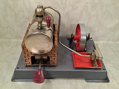 DBP Angem Steam Engine Model  Made in Germany Has Burner Tray Missing Piston Rod 2