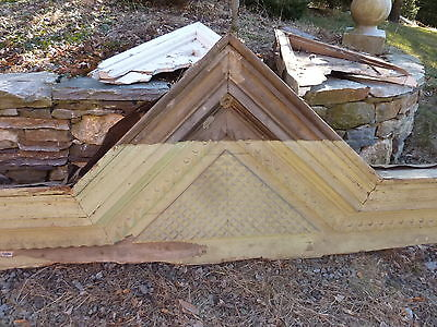 "c1850-60 VICTORIAN style pediment PITTSBURGH, PA hotel CHECKERED design 108x39"" 2"