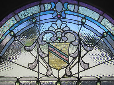 ~ Antique American Stained Glass Window ~ 17 Jewels ~ Architectural Salvage ~ 2