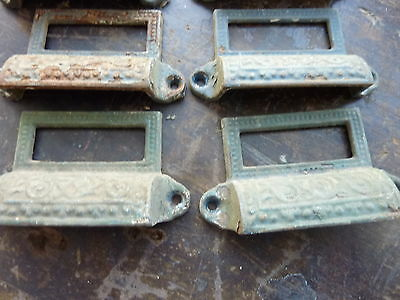 """c1880 LOT 10 matching authentic VICTORIAN cabinet pull hardware 2 7/8"""" on holes 9"""