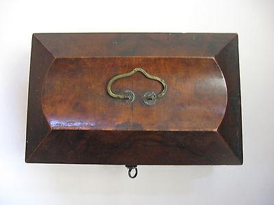 Rare Antique Civil War / Empire Period Jewelry Document Box-Gutta Percha-Burl 9