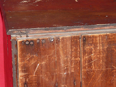 ANTIQUE 19th C. CHILD's TOY DOLL SIZED PINE WOOD WASH STAND COMMODE CABINET 8