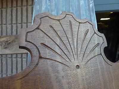 "QUARTERSAWN oak hall mirror frame REPURPOSED w/slate chalkboard insert 67 x 29"" 5"