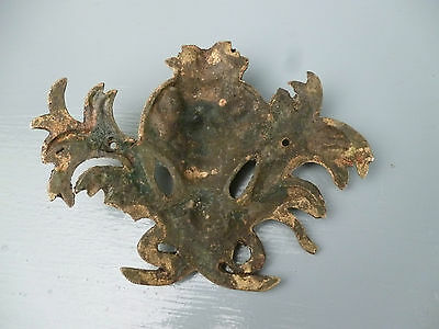 Pair Antique Gilt Bronze Furniture Mounts - Ormolu Victorian Hardware #1 VR 5