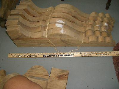 Architectural  Salvage BRACKET  pine  wood curved  hand made corbel 8