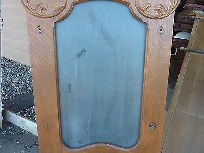 "QUARTERSAWN oak hall mirror frame REPURPOSED w/slate chalkboard insert 67 x 29"" 8"