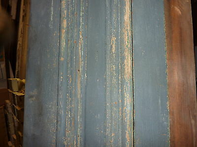 "c1860 BLUE/GRAY fascia PANELED board GREAT for project OR sign - 9'1""L x 16.5"" 4"