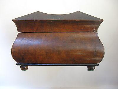 Rare Antique Civil War / Empire Period Jewelry Document Box-Gutta Percha-Burl 7 • £764.15