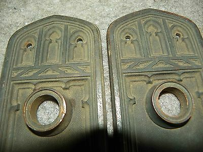 Pr Gothic Bronze Back Plates With Arched Motif 4810K 2
