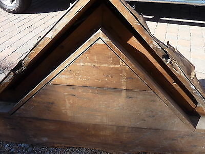 "c1850-60 VICTORIAN style pediment PITTSBURGH, PA hotel CHECKERED design 108x39"" 11"