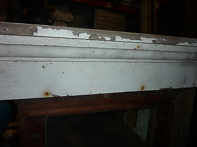 "c1860 square box style WINDOW pediment VICTORIAN lintel ~ header 53 x 6 x 6.5"" 2"