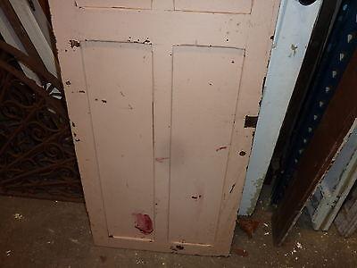 """c1870-80 FOUR panel CABINET door EASTLAKE design PAINTED 54 x 21 x 7/8"""" 9"""