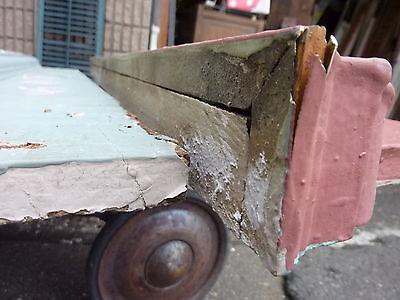 """c1900 INTERIOR window - DOOR pediment HEADERS mostly pine 42-46"""" long x 7""""h 5"""