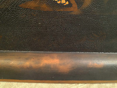 Vintage Reproduction Black and Gold Painted Japanese Tray Hiliu W B J... noff 9