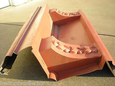 SALE Antique 1800s Metal Crown Molding Gable Pediment Fire Place Mantle Chic 3