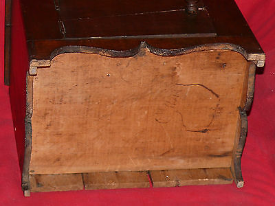 ANTIQUE 19th C. CHILD's TOY DOLL SIZED PINE WOOD WASH STAND COMMODE CABINET 6